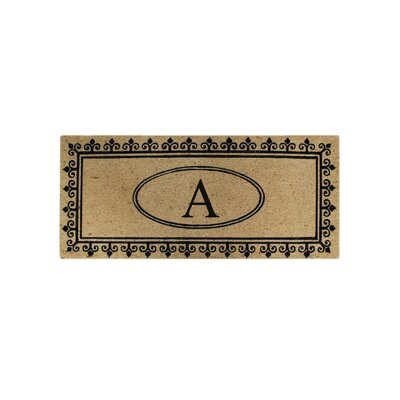 First Impression Quinton Monogrammed Coir Doormat Letter: A