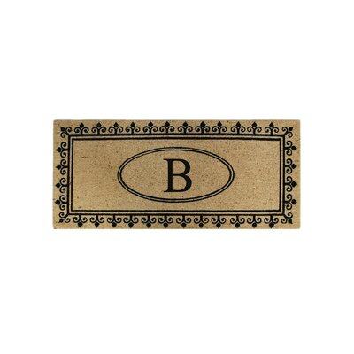 First Impression Quinton Monogrammed Coir Doormat Letter: B