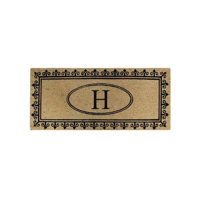 First Impression Quinton Monogrammed Coir Doormat Letter: H
