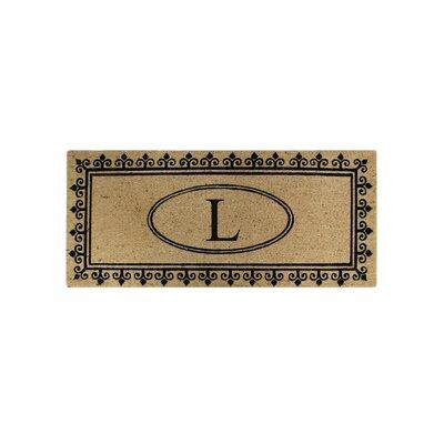 First Impression Quinton Monogrammed Coir Doormat Letter: L