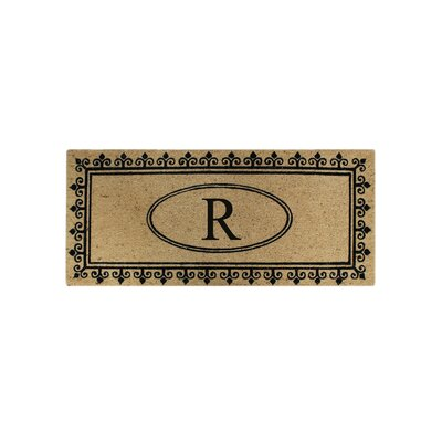 First Impression Quinton Monogrammed Coir Doormat Letter: R