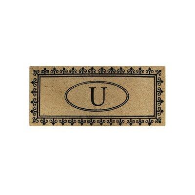 First Impression Quinton Monogrammed Coir Doormat Letter: U
