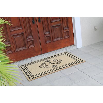 Bradford Anti Shred Treated Non-Skid Entry Monogrammed Double Doormat Letter : A