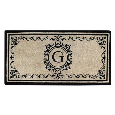 Hedvige Estate Anti Shred Monogrammed Double Doormat Letter : G