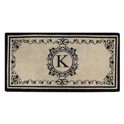 Hedvige Estate Anti Shred Monogrammed Double Doormat Letter : K
