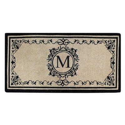 Hedvige Estate Anti Shred Monogrammed Double Doormat Letter : M