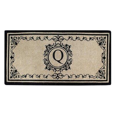 Hedvige Estate Anti Shred Monogrammed Double Doormat Letter : Q