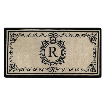 Hedvige Estate Anti Shred Monogrammed Double Doormat Letter : R