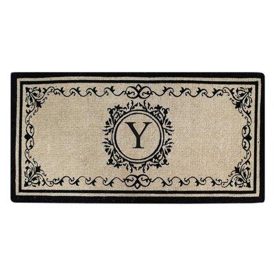 Hedvige Estate Anti Shred Monogrammed Double Doormat Letter : Y