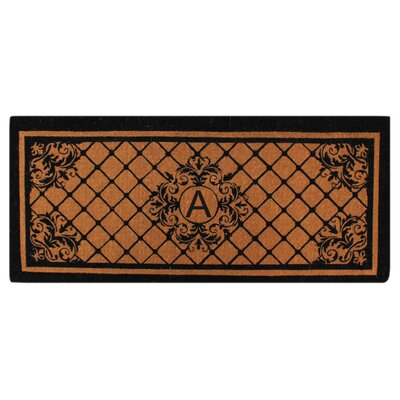 Hedvige Entry Monogrammed Double Doormat Letter : A