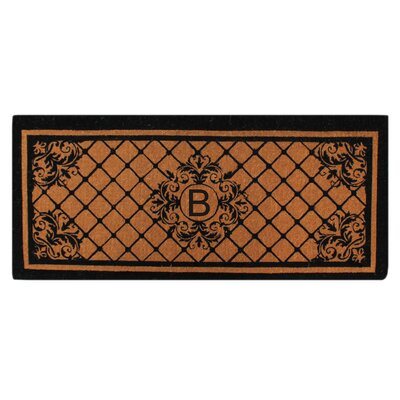 Hedvige Entry Monogrammed Double Doormat Letter : B