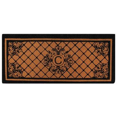 Hedvige Entry Monogrammed Double Doormat Letter : C