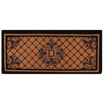 Hedvige Entry Monogrammed Double Doormat Letter : D
