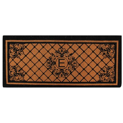 Hedvige Entry Monogrammed Double Doormat Letter : E