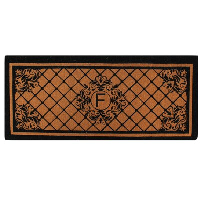 Hedvige Entry Monogrammed Double Doormat Letter : F