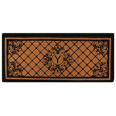 Hedvige Entry Monogrammed Double Doormat Letter : Y