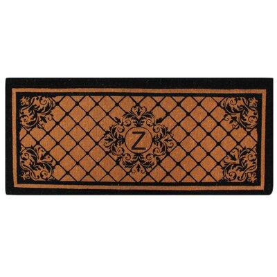 Hedvige Entry Monogrammed Double Doormat Letter : Z