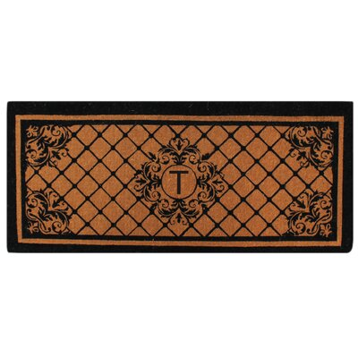 Hedvige Entry Monogrammed Double Doormat Letter : T