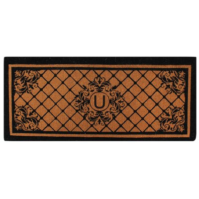 Hedvige Entry Monogrammed Double Doormat Letter : U