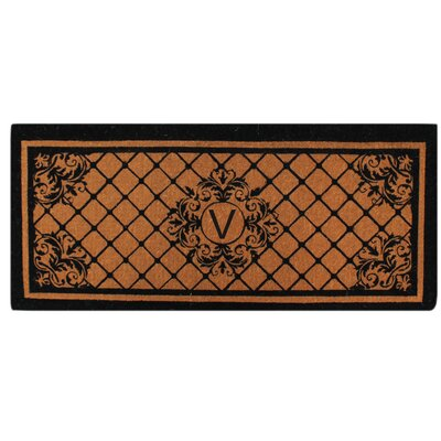 Hedvige Entry Monogrammed Double Doormat Letter : V