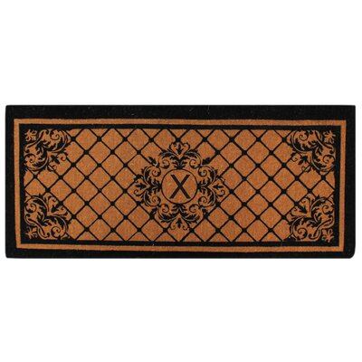 Hedvige Entry Monogrammed Double Doormat Letter : X