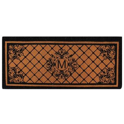 Hedvige Entry Monogrammed Double Doormat Letter : M