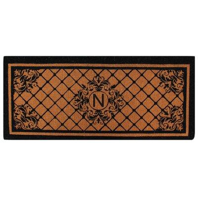 Hedvige Entry Monogrammed Double Doormat Letter : N