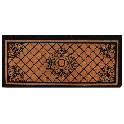 Hedvige Entry Monogrammed Double Doormat Letter : O