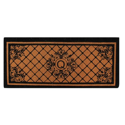 Hedvige Entry Monogrammed Double Doormat Letter : Q