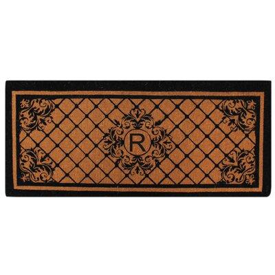 Hedvige Entry Monogrammed Double Doormat Letter : R