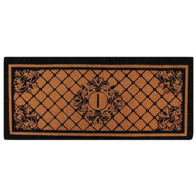 Hedvige Entry Monogrammed Double Doormat Letter : I