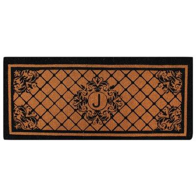 Hedvige Entry Monogrammed Double Doormat Letter : J