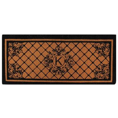 Hedvige Entry Monogrammed Double Doormat Letter : K