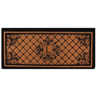 Hedvige Entry Monogrammed Double Doormat Letter : L