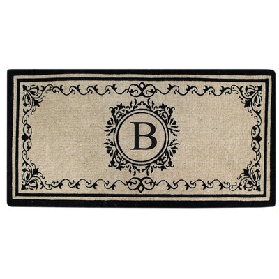 Hedvige Estate Anti Shred Monogrammed Double Doormat Letter : B