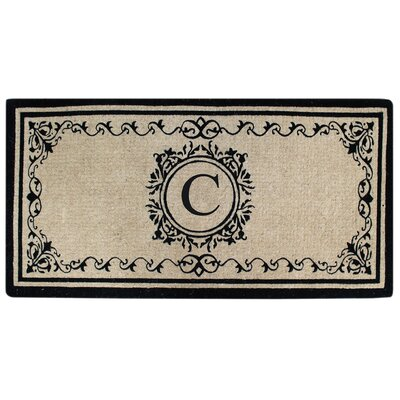 Hedvige Estate Anti Shred Monogrammed Double Doormat Letter : C