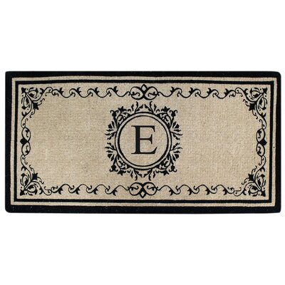Hedvige Estate Anti Shred Monogrammed Double Doormat Letter : E
