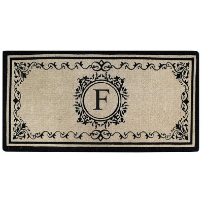 Hedvige Estate Anti Shred Monogrammed Double Doormat Letter : F