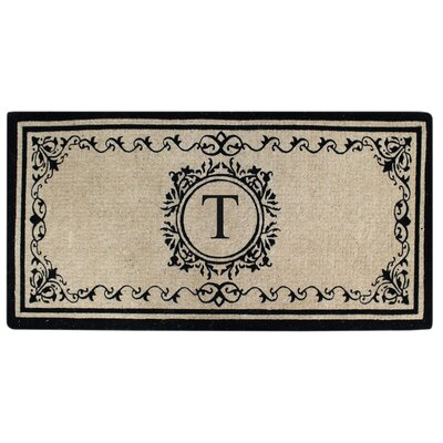 Hedvige Estate Anti Shred Monogrammed Double Doormat Letter : T