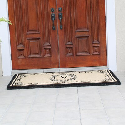 Hedvige Estate Anti Shred Monogrammed Double Doormat Letter : V