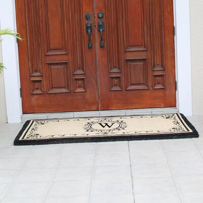 Hedvige Estate Anti Shred Monogrammed Double Doormat Letter : W