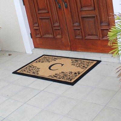 Hedvige Courtyard Entry Double Monogrammed Doormat Letter : C
