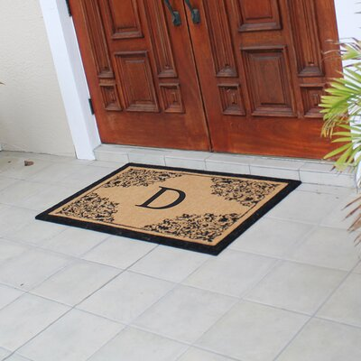 Hedvige Courtyard Entry Double Monogrammed Doormat Letter : D