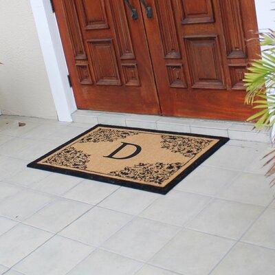 Hedvige Courtyard Entry Double Monogrammed Doormat Letter : D
