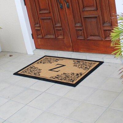 Hedvige Courtyard Entry Double Monogrammed Doormat Letter : Z