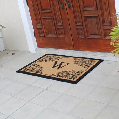 Hedvige Courtyard Entry Double Monogrammed Doormat Letter : W