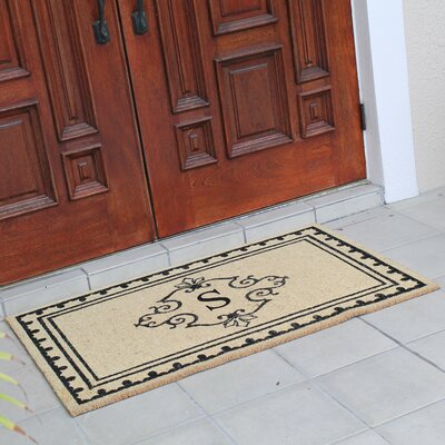 Bradford Anti Shred Treated Non-Skid Entry Monogrammed Double Doormat Letter : S