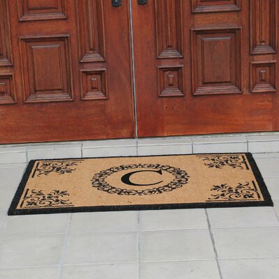 Hedvige Anti Shred Treated Non-Skid Monogrammed Entry Doormat Letter : C