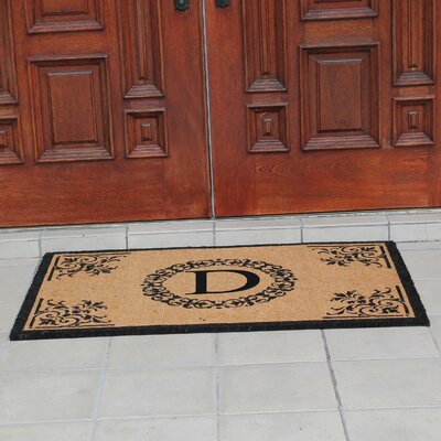 Hedvige Anti Shred Treated Non-Skid Monogrammed Entry Doormat Letter : D