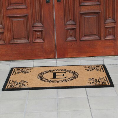 Hedvige Anti Shred Treated Non-Skid Monogrammed Entry Doormat Letter : E